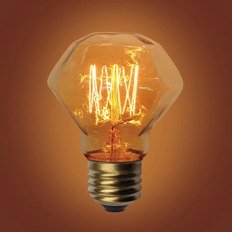 E26 Base Diamond Squirrel Cage Filament Vintage Edison Bulbs 60 Watt Urbanest
