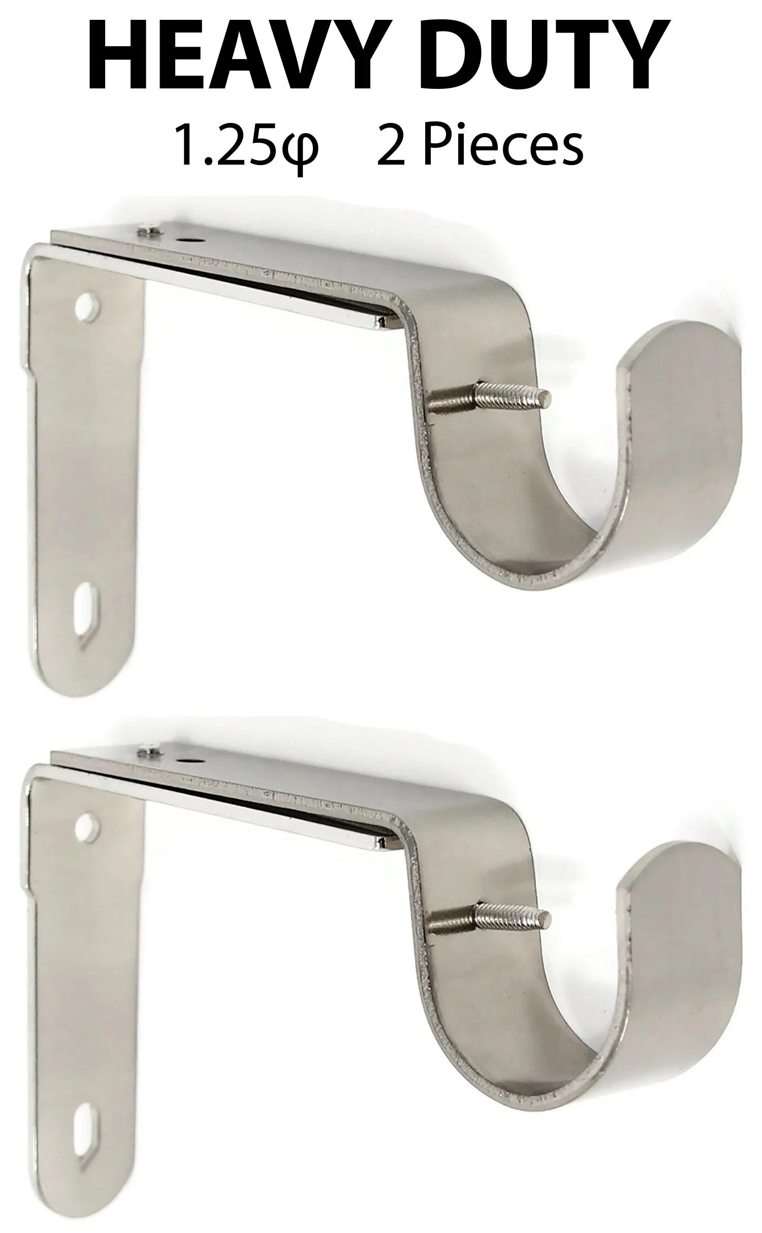 1 1 4 adjustable curtain rod bracket 7 finishes