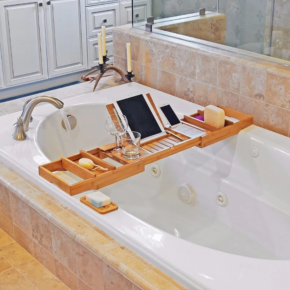bamboo bathtub caddy bath tray – unique varieties