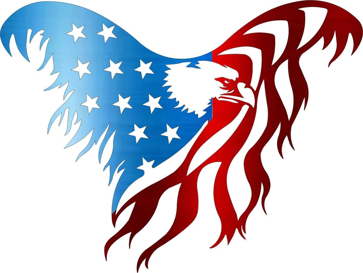 Flying American Eagle / No Banner