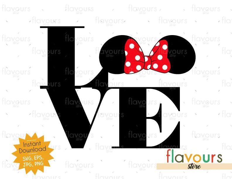 Download Love Minnie Ears - Instant Download - SVG Cut File ...