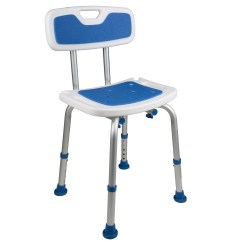 Bath Chair For Elderly Folding Travel 7103 Padded Safety Seat With Backrest  Pcpmedical