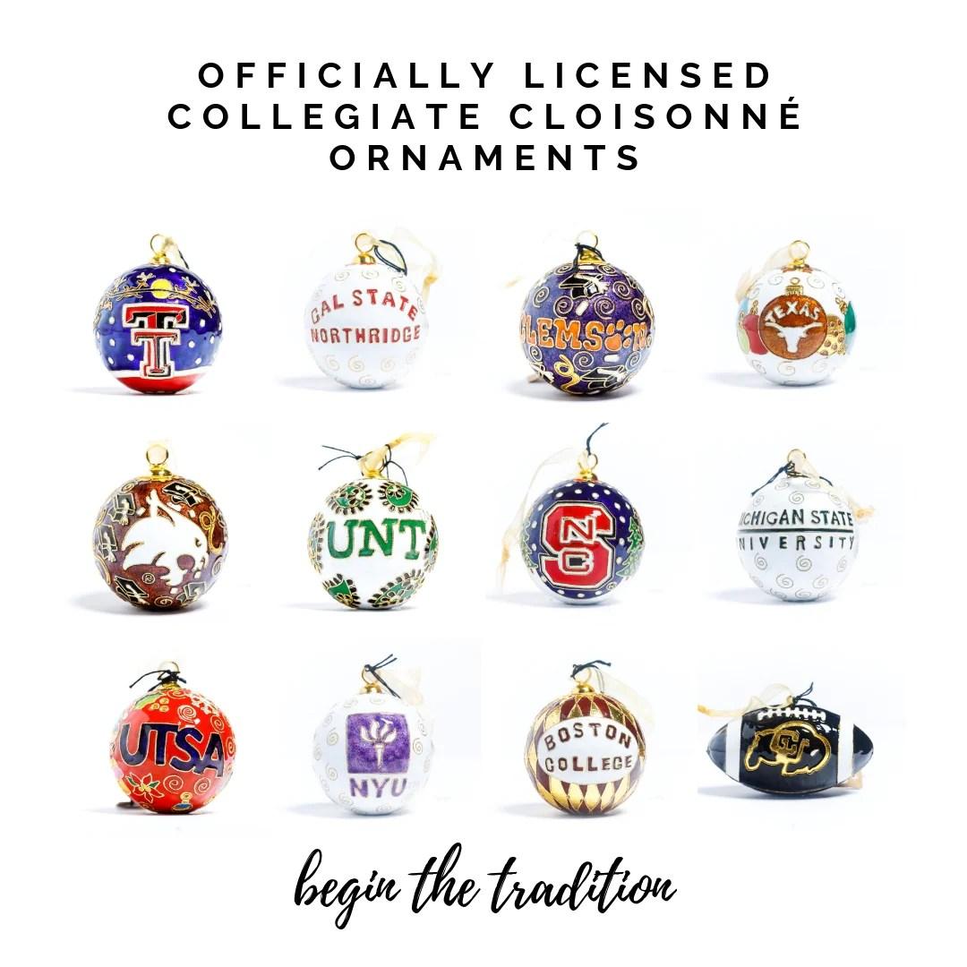 handcrafted cloisonné ornaments keepsakes