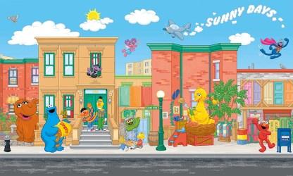 Elmo Sesame Street Wallpaper Wall Mural wallcoveringsmart
