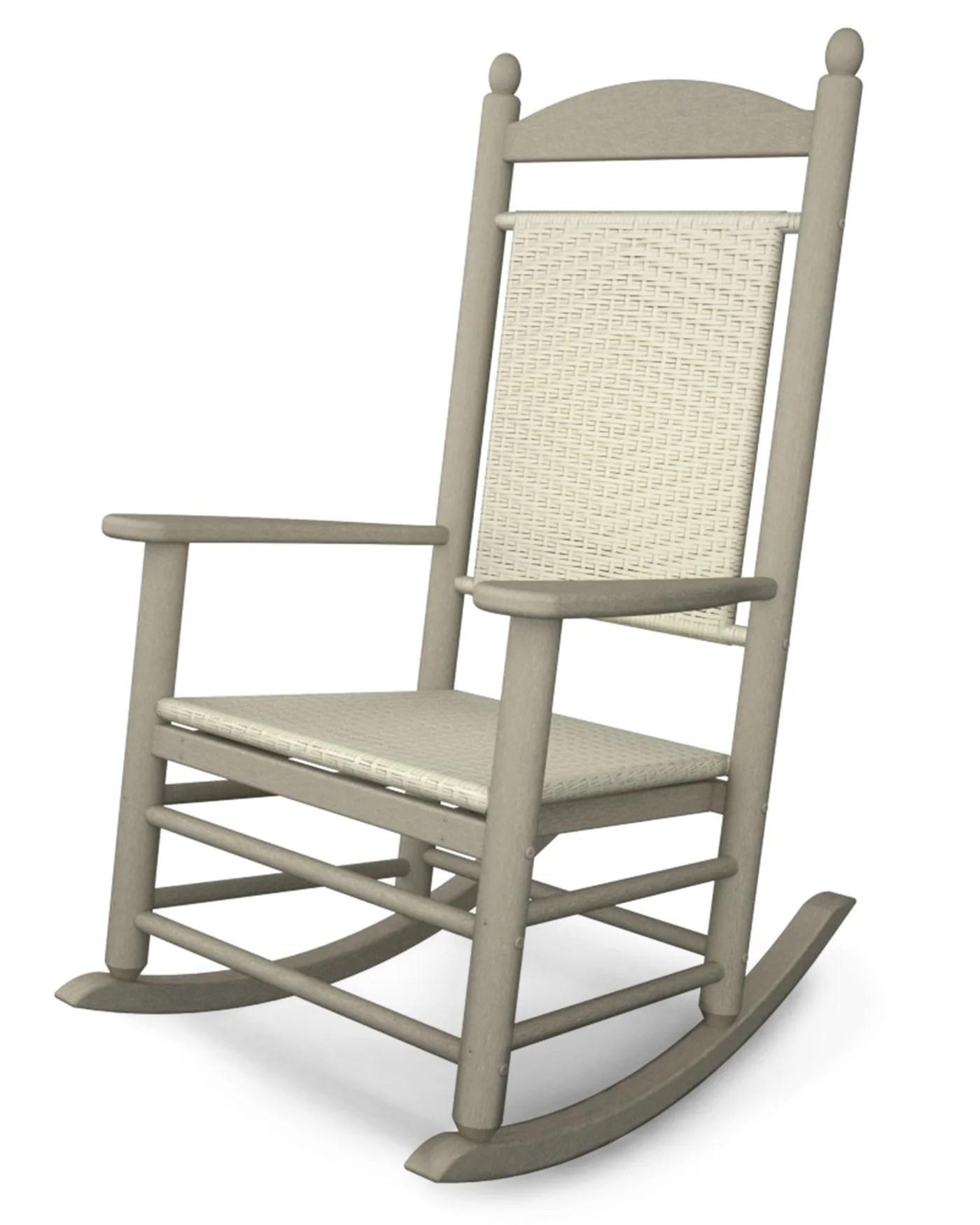 woven rocking chair macau hanging jysk polywood jefferson rocker k147 pure patio
