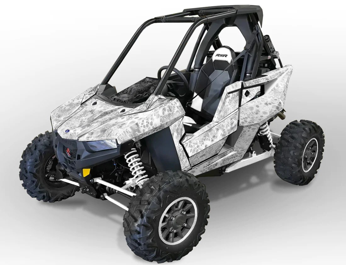 hight resolution of rzr rs1 cryptic camo white