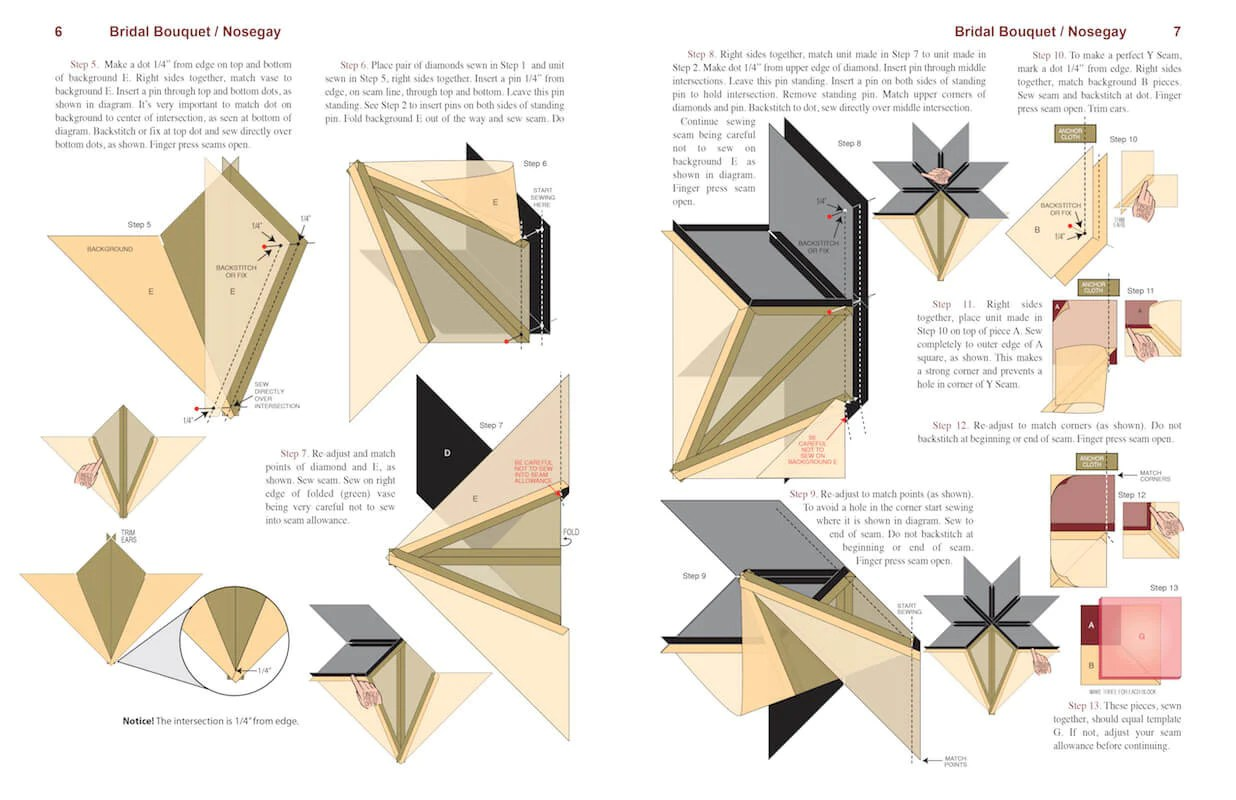 Carpenter S Color Wheel Star Quilt Pattern