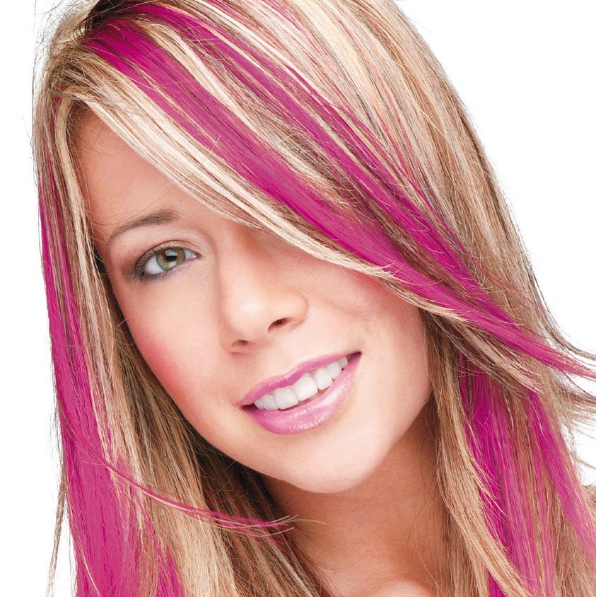 dark pink smart colour temporary