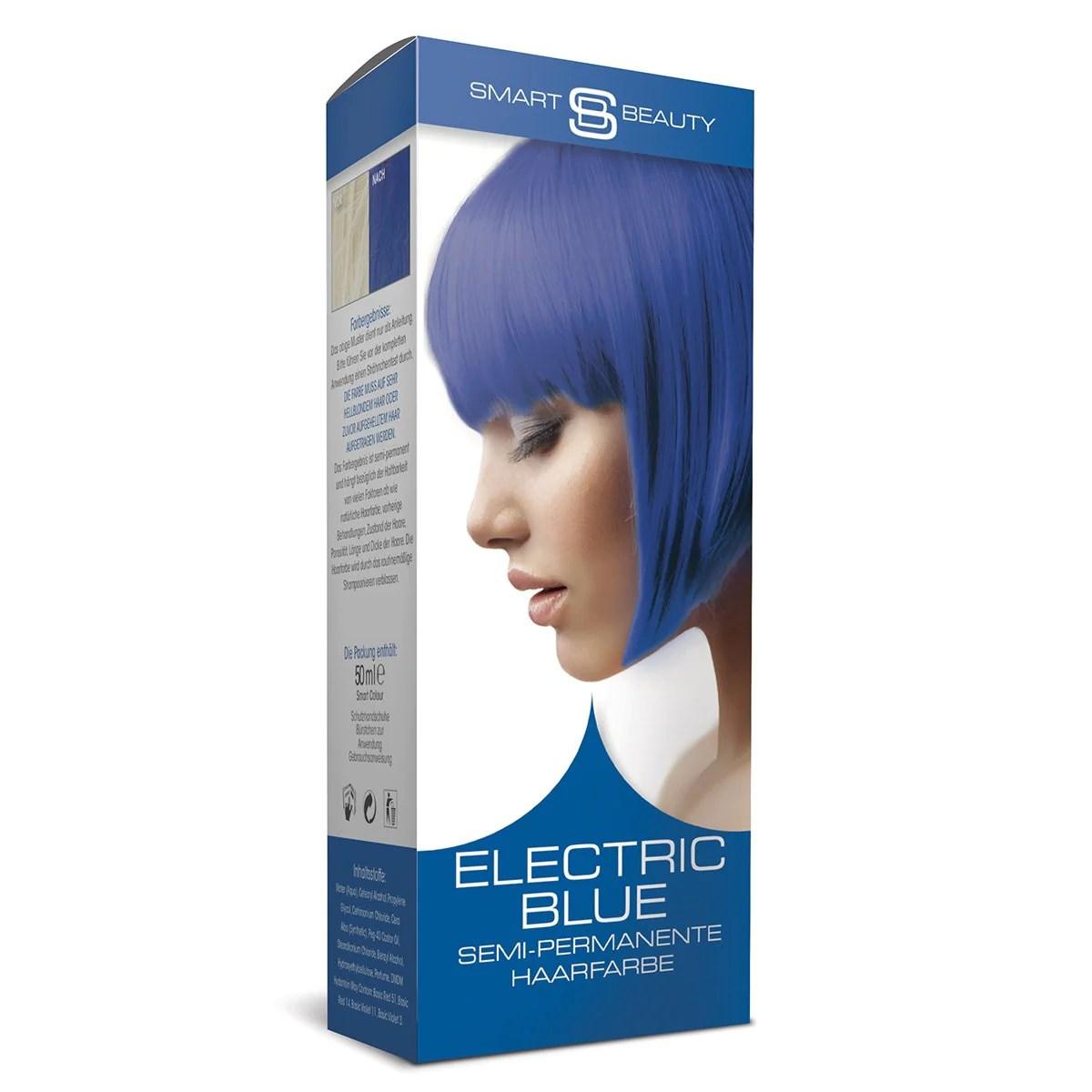 blue vibrant hair dye semi-permanent