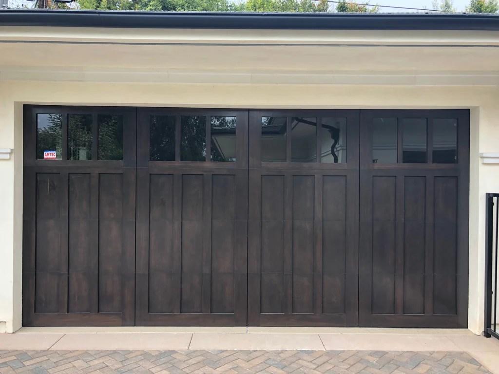 Madison Craftsman Style Custom Wood Garage Door Lux