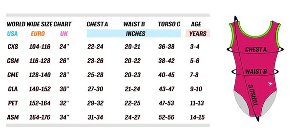 Our sizes follow the same sizing chart as standard uk leotard brands also spirit sports leotards  gymgym rh