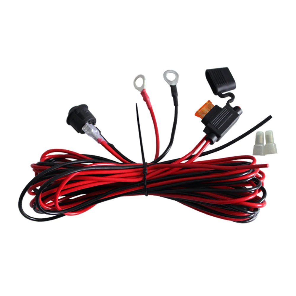 medium resolution of led rock light wiring harness with fuse and switch