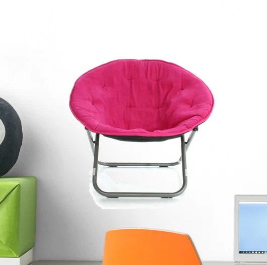 hot pink chair deck replacement covers australia over wall decal wallmonkeys com white