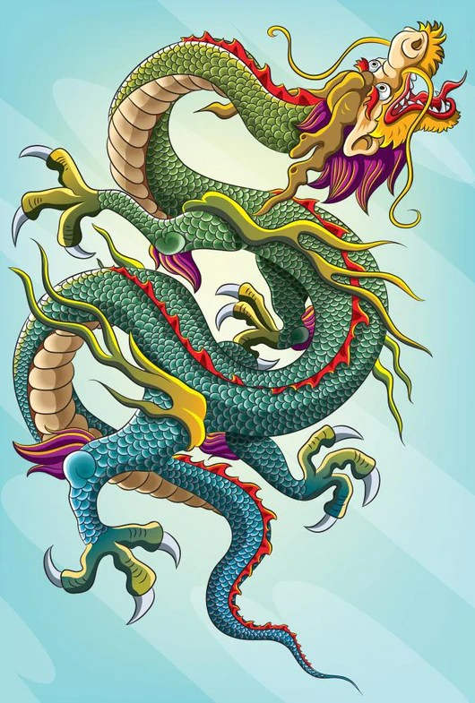 chinese dragon painting eps