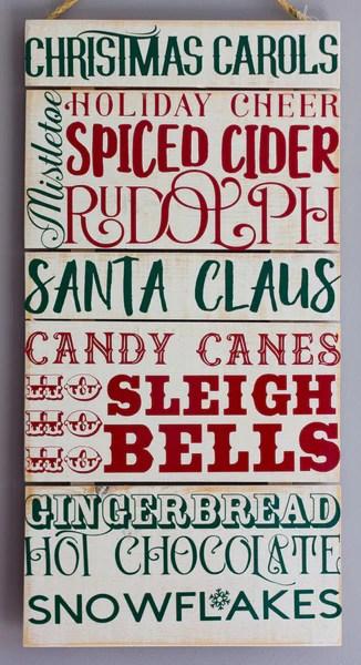 christmas phrases wall art