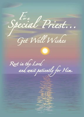 2628 Get Well Wishes Priest Cards By Sandra Rose Sandra Rose Designs