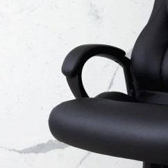 Office Chair Leaning To One Side Aeron Spare Parts Executive Lumbar Support Crossford