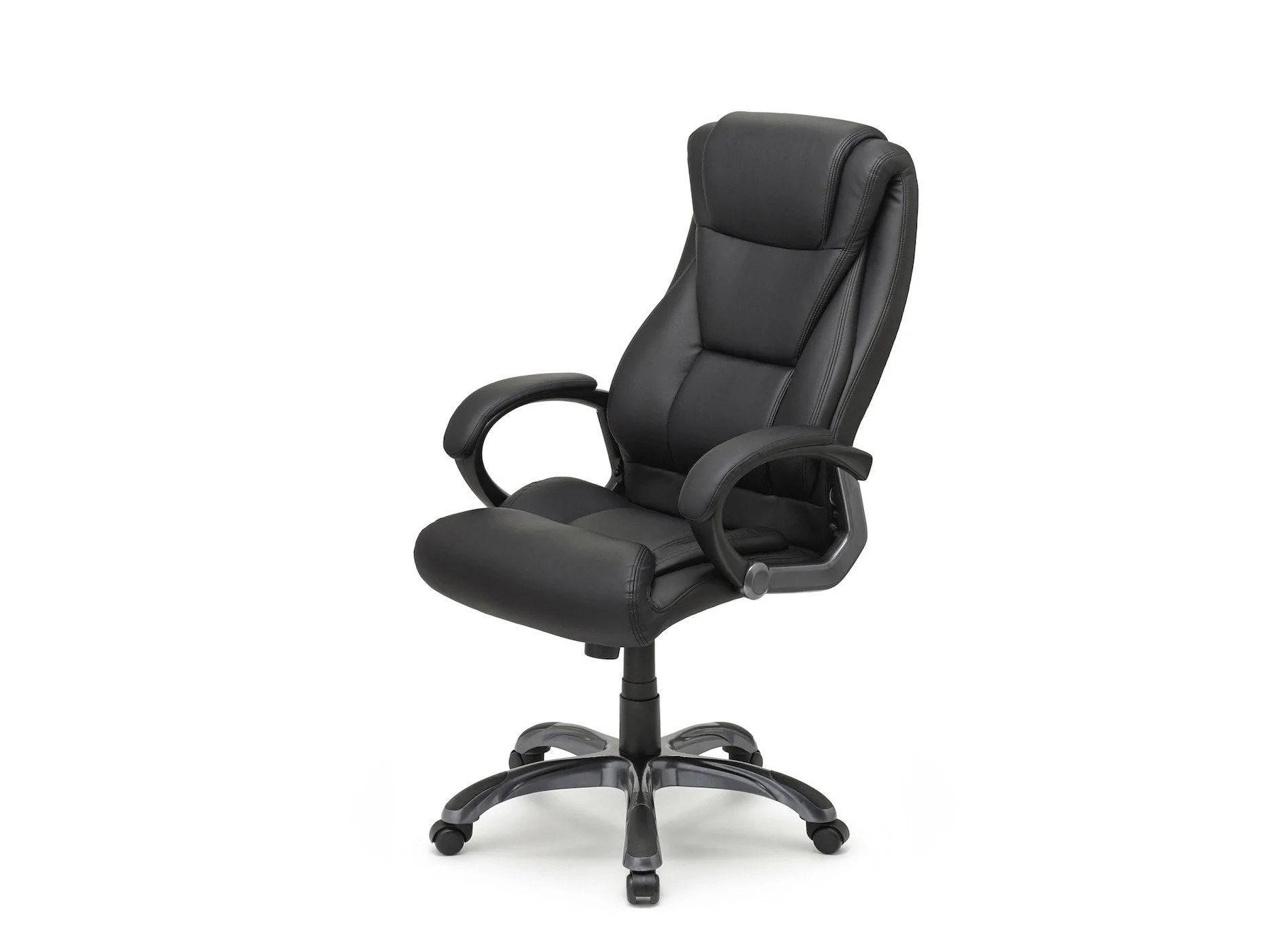 office chair leaning to one side best video game for adults executive lumbar support crossford