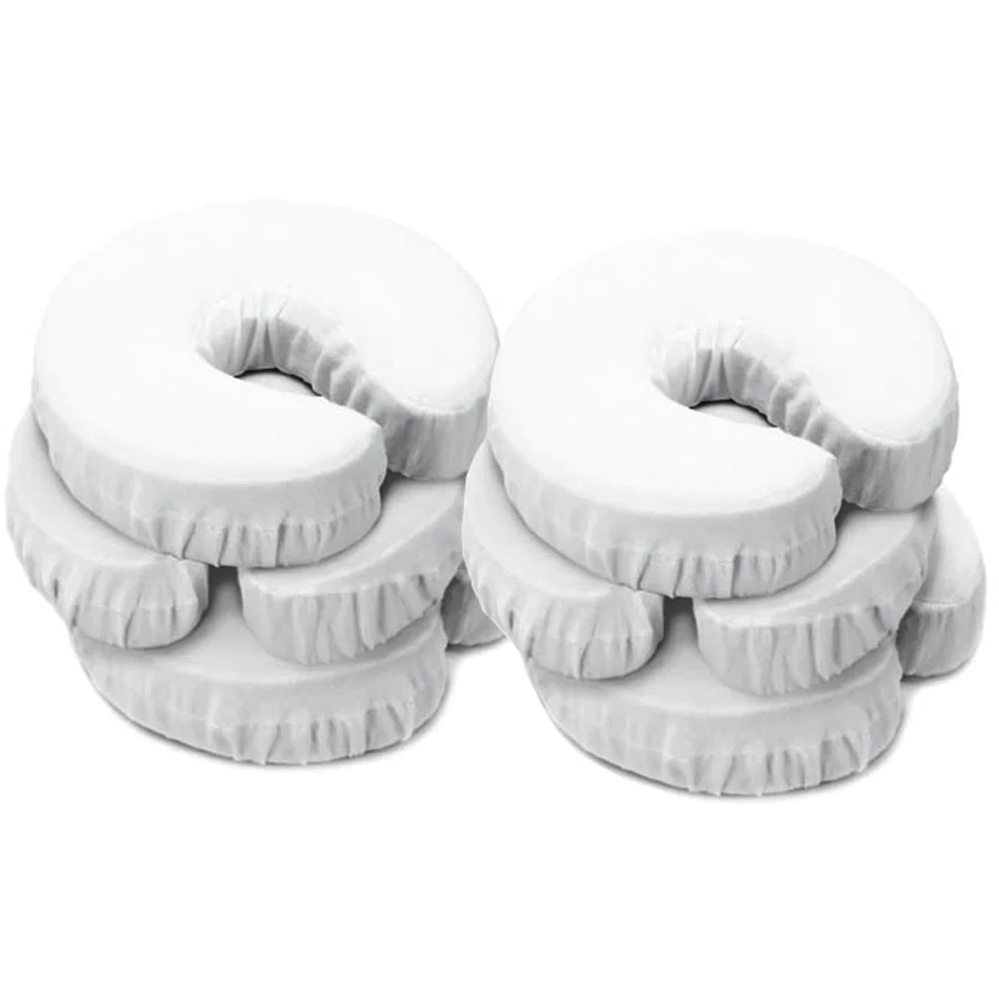 master massage universal face pillow cushion cradle headrest covers 6 pack cream 100 all cotton machine washable