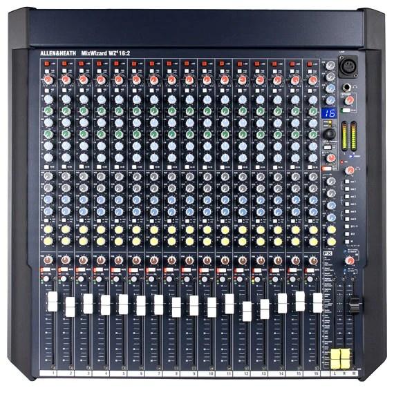 allen heath ah wz416 2 16 mic line 2 stereo rack mount mixer 6 aux sends 4 band eq with dual swept mids dual fx engines rack mount