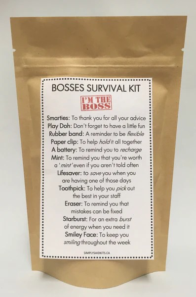 Manager Survival Kit Funny : manager, survival, funny, Survival, SimplySaidKits