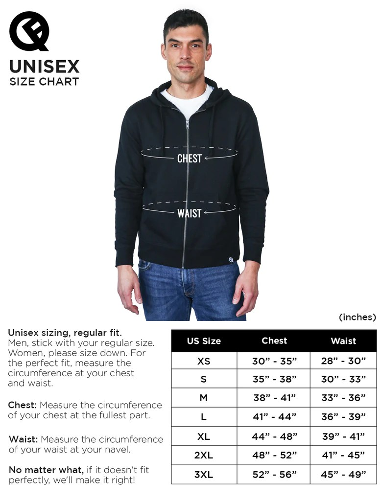 Asian Size To Us Size Hoodie : asian, hoodie, Customer, Support:, Chart, Hoodie, Classic, Quikflip, Apparel