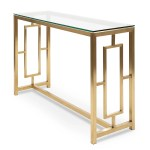 Kater Glass Console Table Brushed Gold Base Interior Secrets