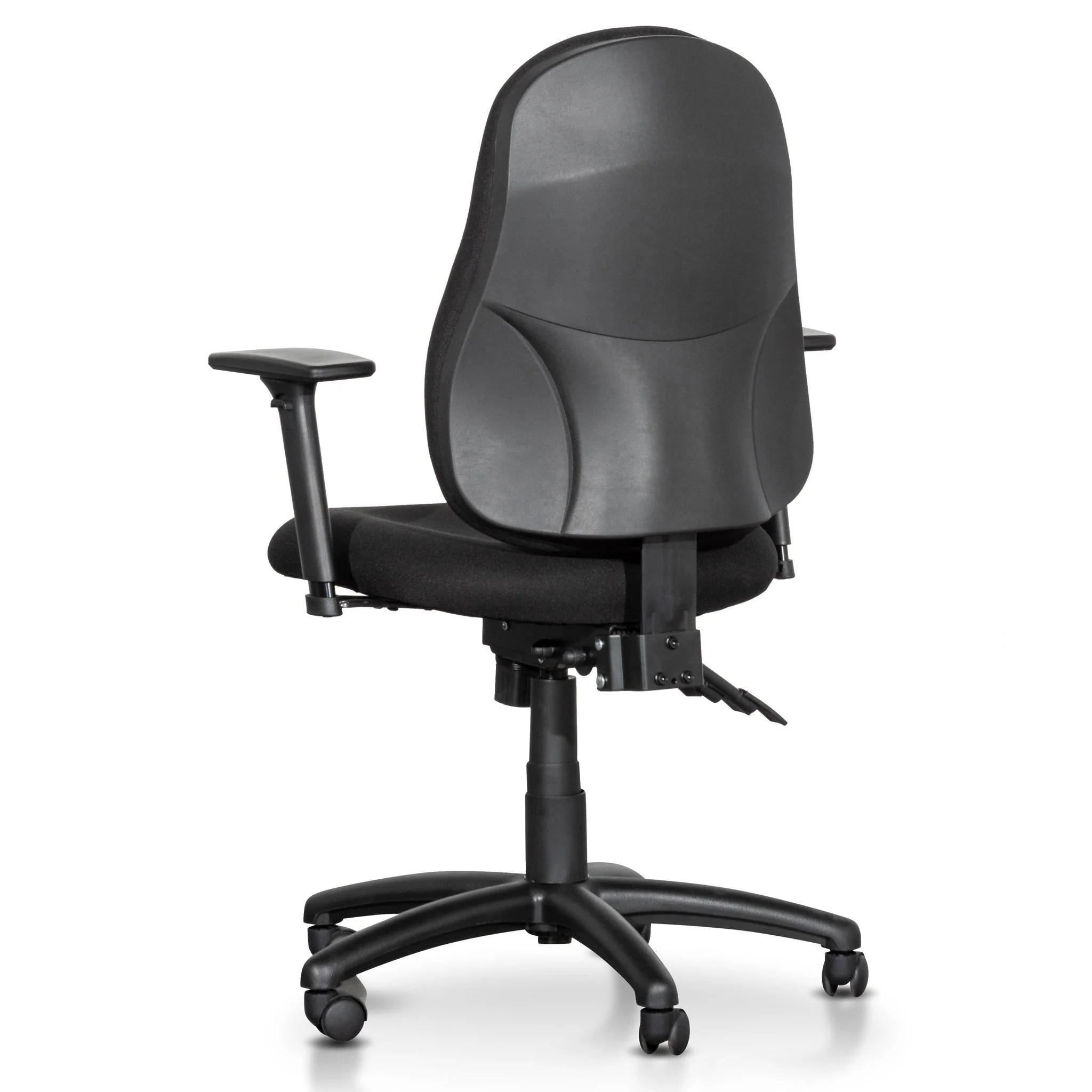 Brent High Back Fabric Office Chair Black Interior Secrets