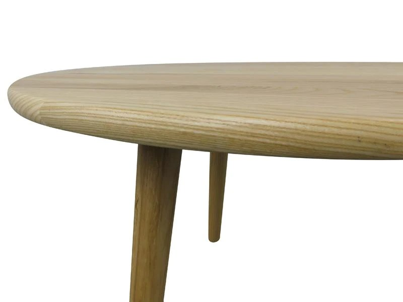 jardin 66cm round wooden coffee table natural