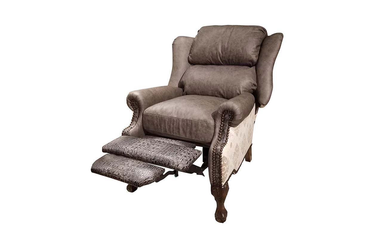 Wingback Recliner Chair Modern Ranch Wingback Recliner