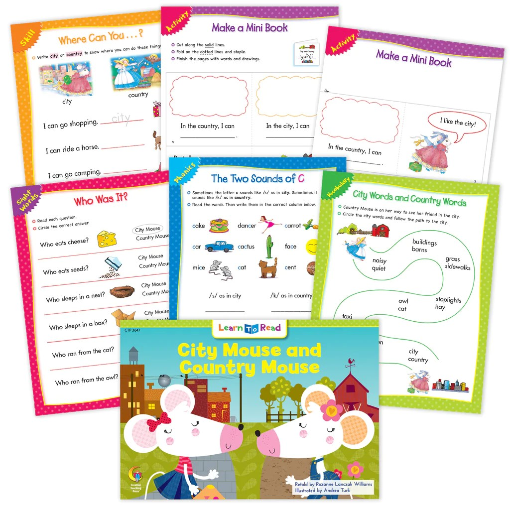 City Mouse And Country Mouse Ebook \u0026 Worksheets – Creative Teaching Press [ 1024 x 1024 Pixel ]