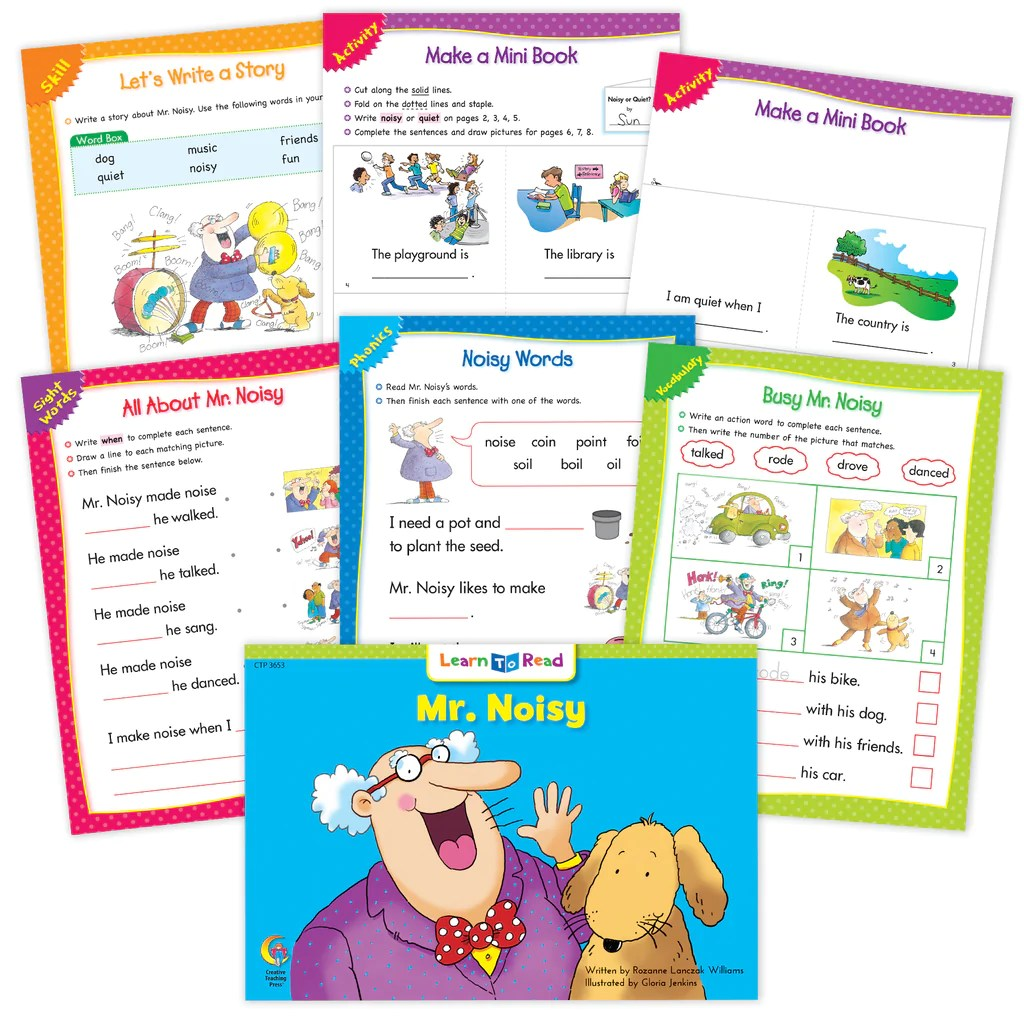small resolution of Mr. Noisy Builds A House Ebook \u0026 Worksheets – Creative Teaching Press