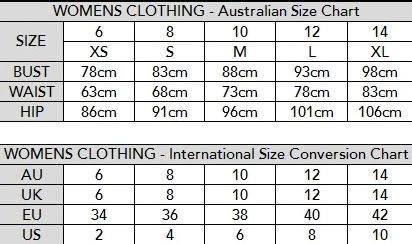 also size chart  privvy rh