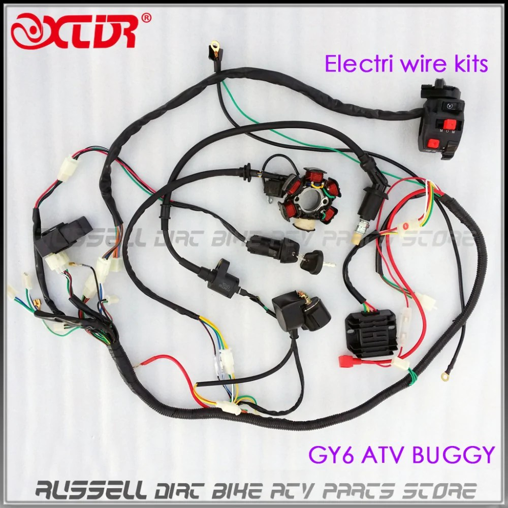 hight resolution of full electrics wiring harness cdi box magneto stator 150cc gy6