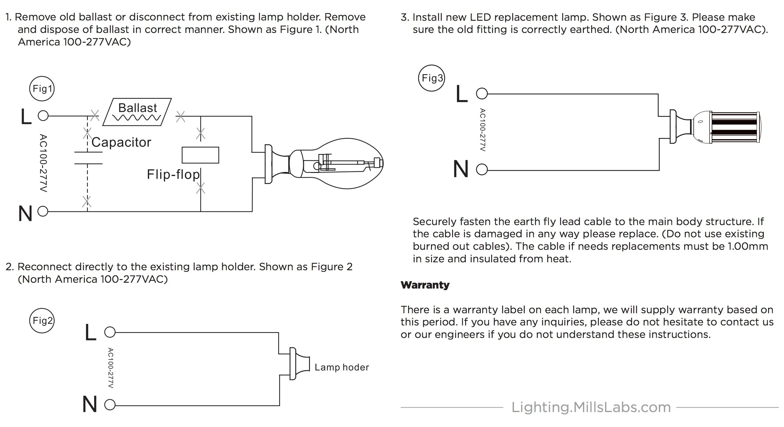 how to bypass metal halide ballast install led corn light bulb in existing fixture  [ 2570 x 1400 Pixel ]
