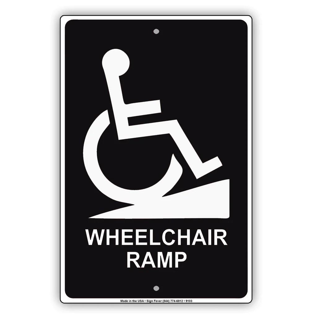 wheelchair ramp handicap sign