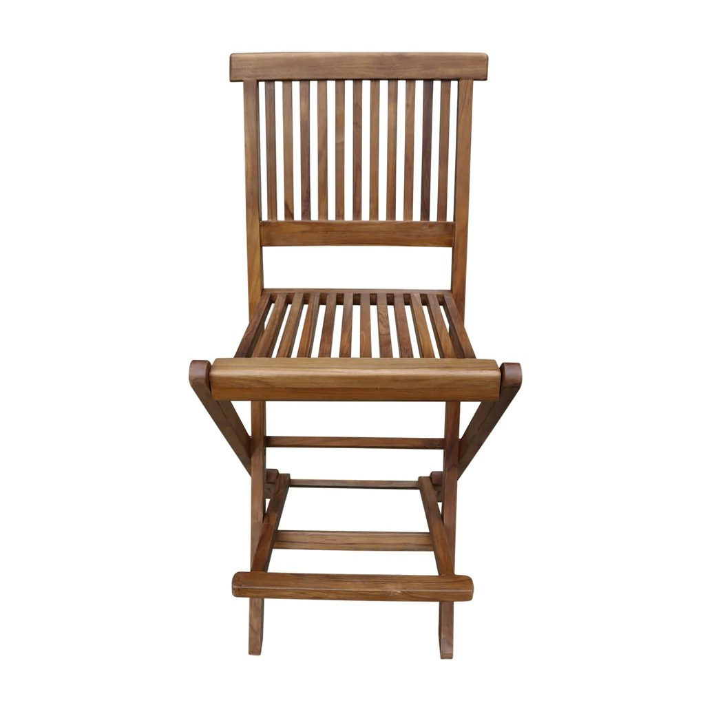 Patio Folding Chairs Ala Teak Outdoor Patio Bar Stool Seat Folding Chair