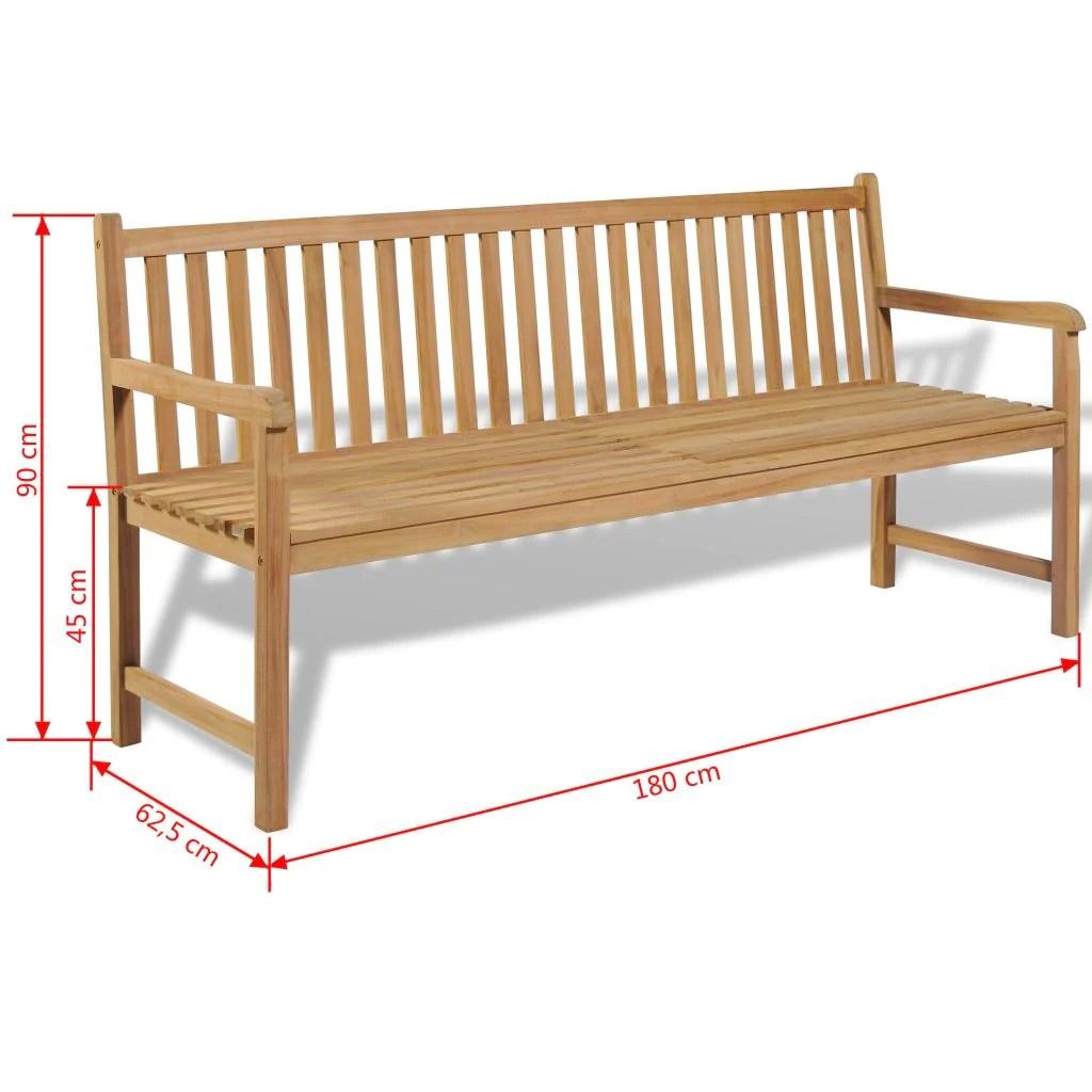 outdoor bench teak