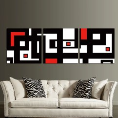 White Wall Decorations Living Room Home Goods Rugs Red Black Design Modern Abstract Art Decor For Cheap Canvas Prints