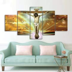 Ideas For Living Room Wall Art Modern Ceiling Design 2018 Jesus Cross Picture Panel Print Home Decor Modular Cheap Canvas Prints