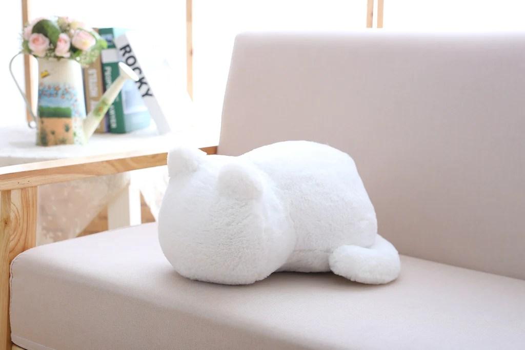 plain cute cat plush cushion pillow animal toys kids living room decor
