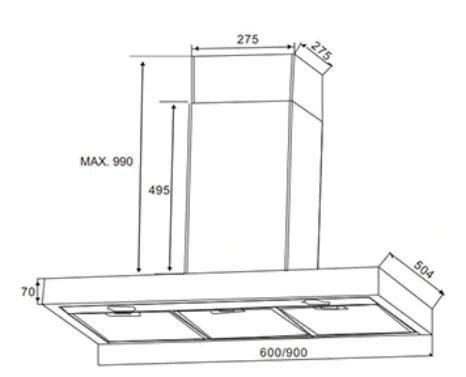 Electrolux 90cm Inspiration Stainless Steel Chimney Hood EFC935SAR – ESH Electrical