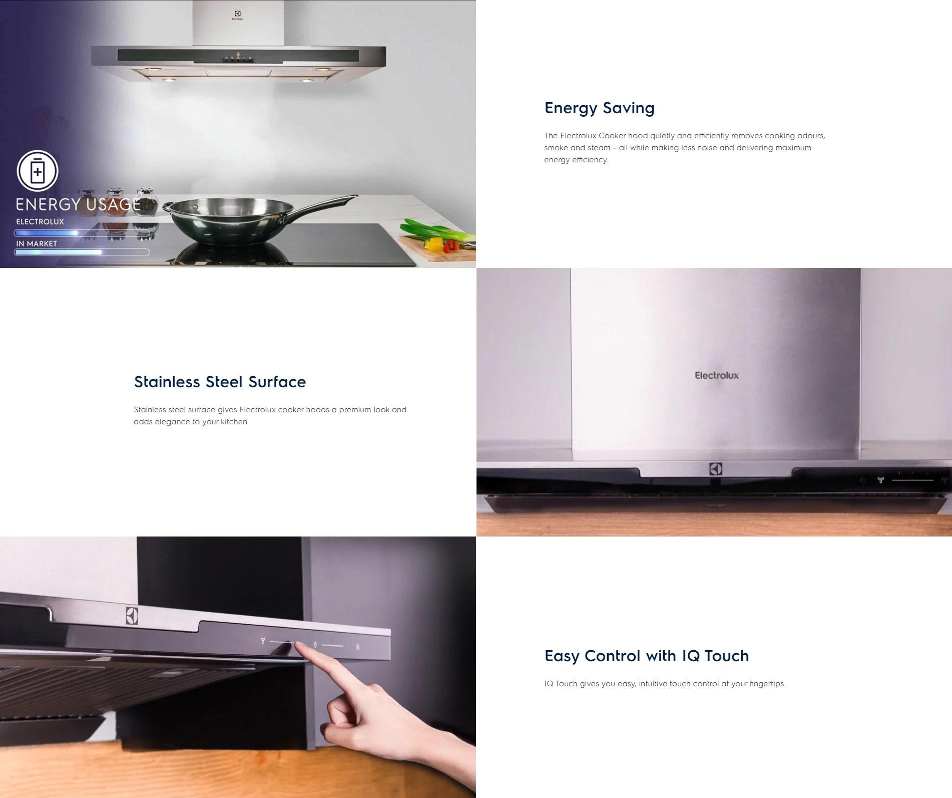 Electrolux 90cm Dual Filter Stainless Steel Chimney Hood EFC926SA – ESH Electrical