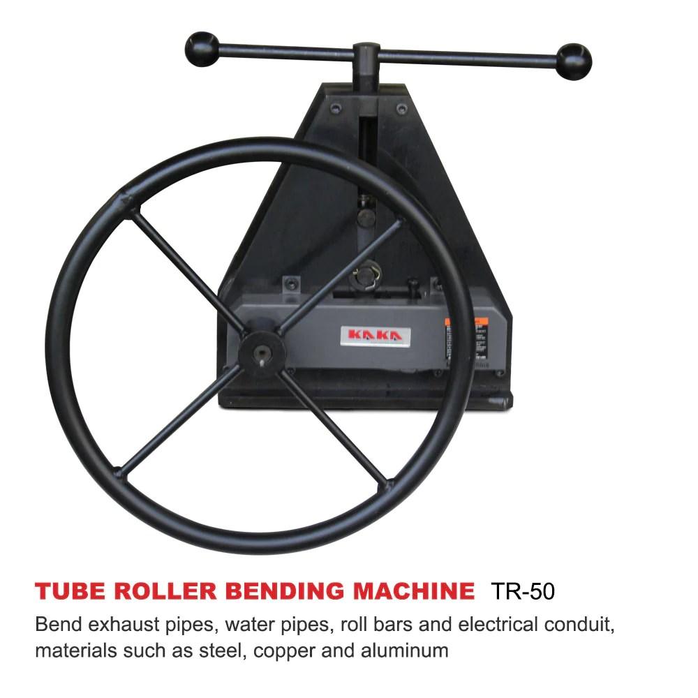 tr 50 manual tube pipe roller bender high precision tubing bender easy operation pipe bender