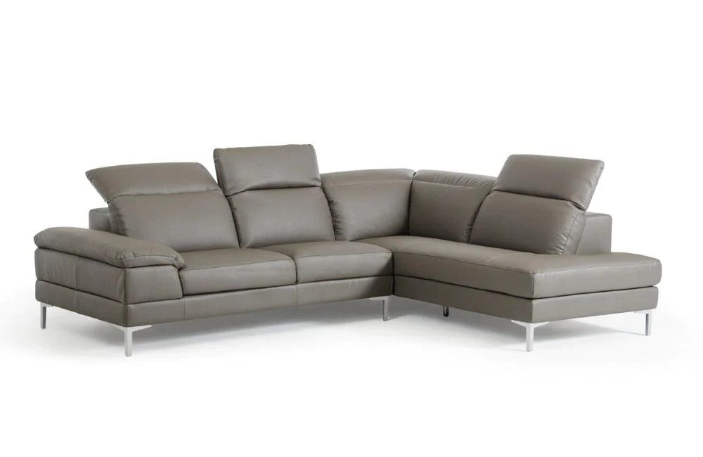 marco gray chaise sofa corner bed usa modern grey eco leather sectional buy 1509 in a