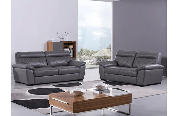 gray living room sets table decorations ideas damia 2 pc set buy 2379 in a modern furniture