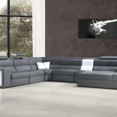 White Bonded Leather Sectional Sofa Set With Light How To Repair Torn Cushion Madilyn Contemporary Lights Buy 2639 In A Modern Furniture Store Fairfield Nj Casa Eleganza Mattress