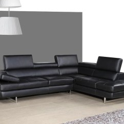 Cheap Black Leather Sectional Sofas Dfs Sofa Protection Spray Giovanna Left Facing Buy 2879 In A