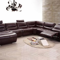 Leather Sectional Sofas Poundex Bobkona Atlantic 2 Piece Sofa 2144 Brown W Recliner Left Chase Buy 3899