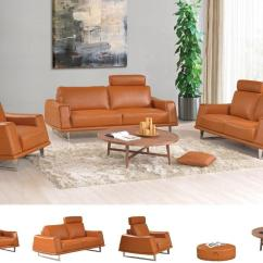 Set Of Leather Sofas Small 3 Piece Sectional Sofa Declan Modern Buy 3939 In A Furniture